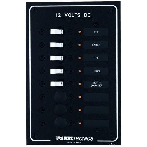 Paneltronics Standard DC 8 Position Breaker Panel w-LEDs