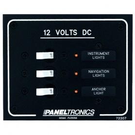 Paneltronics Standard DC 3 Position Breaker Panel w-LEDs