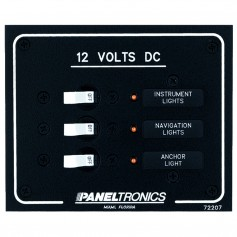 Paneltronics Standard DC 3 Position Breaker Panel w-LEDs