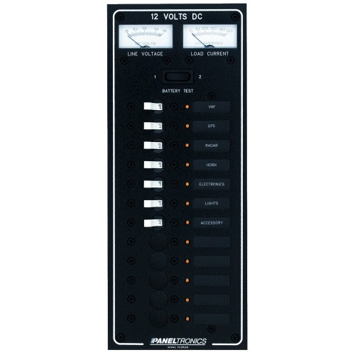 Paneltronics Standard DC 12 Position Breaker Panel w-LEDs