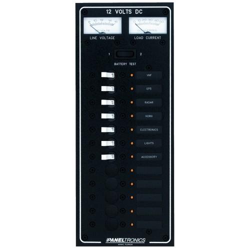 Paneltronics Standard DC 12 Position Breaker Panel w-LEDs