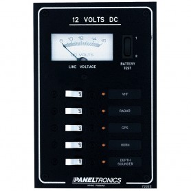 Paneltronics Standard DC 5 Position Breaker Panel - Meter w-LEDs