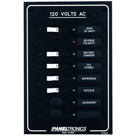Paneltronics Standard AC 6 Position Breaker Panel - Main w-LEDs
