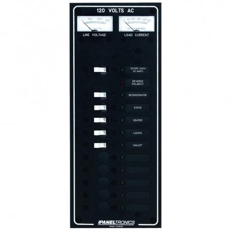 Paneltronics Standard AC 10 Position Breaker Panel - Main w-LED
