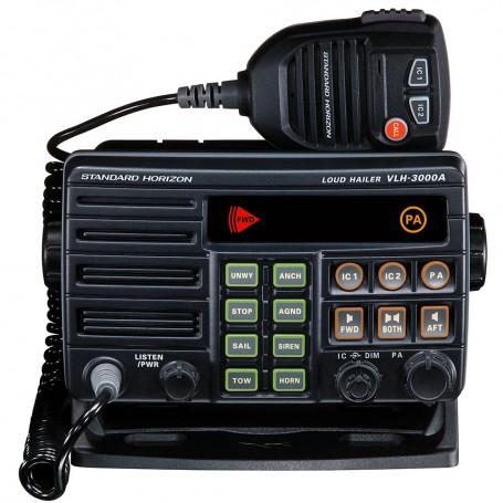 Standard Horizon VLH-3000A 30W Dual Zone PA-Loud Hailer-Fog w-Listen Back - 2 Optional Intercom Stations