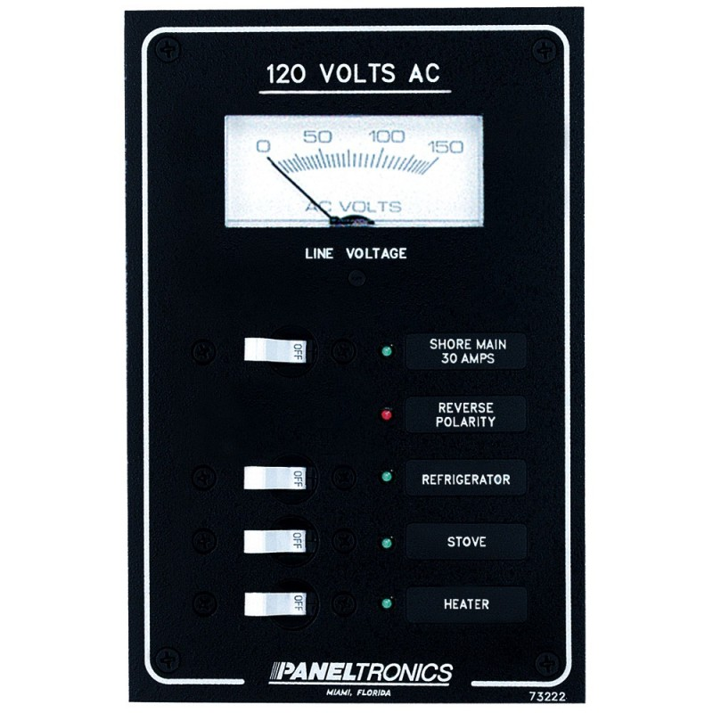 Paneltronics Standard AC 3 Position Breaker Panel - Main
