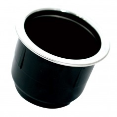 Tigress Black Plastic Cup Holder Insert w-SS Ring On Top