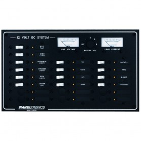 Paneltronics Standard DC 20 Position Breaker Panel - Meter