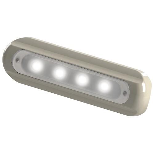 TACO 4-LED Deck Light - Flat Mount - White Housing