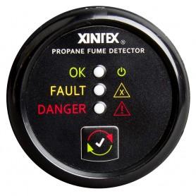 Xintex Propane Fume Detector w-Plastic Sensor - No Solenoid Valve - Black Bezel Display