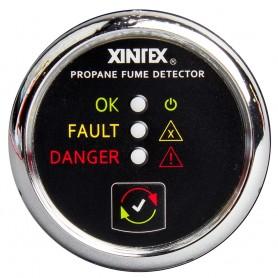 Xintex Propane Fume Detector w-Plastic Sensor - No Solenoid Valve - Chrome Bezel Displa
