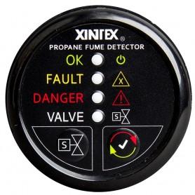 Xintex Propane Fume Detector w-Plastic Sensor - Solenoid Valve - Black Bezel Display