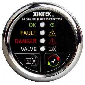 Xintex Propane Fume Detector w-Plastic Sensor Solenoid Valve - Chrome Bezel Display