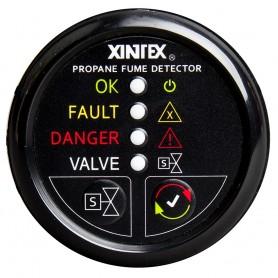 Xintex Propane Fume Detector w-Automatic Shut-Off - Plastic Sensor - No Solenoid Valve - Black Bezel Display