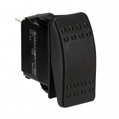 Paneltronics DPDT ON-OFF-ON Waterproof Contura Rocker Switch w-LEDs - Black