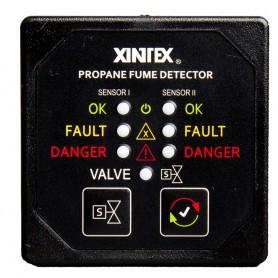 Xintex Propane Fume Detector w-2 Plastic Sensors - No Solenoid Valve - Square Black Bezel Display