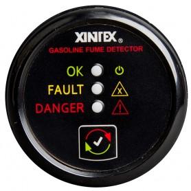 Xintex Gasoline Fume Detector - Alarm w-Plastic Sensor - Black Bezel Display