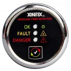 Xintex Gasoline Fume Detector - Alarm w-Plastic Sensor - Chrome Bezel Display