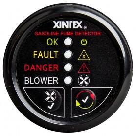 Xintex Gasoline Fume Detector - Blower Control w-Plastic Sensor - Black Bezel Display