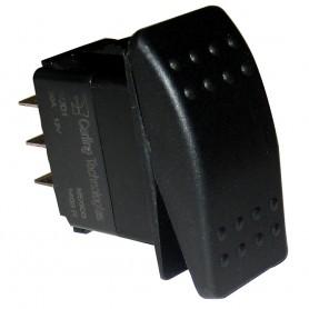 Paneltronics DPDT ON-OFF-ON Waterproof Contura Rocker Switch - Black
