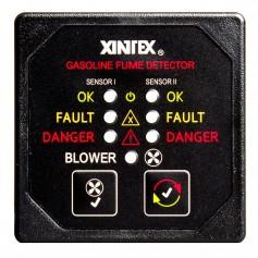 Xintex Gasoline Fume Detector - Blower Control w-2 Plastic Sensors - Black Bezel Display