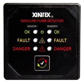 Xintex Gasoline Fume Detector w-2 Plastic Sensors - Black Bezel Display