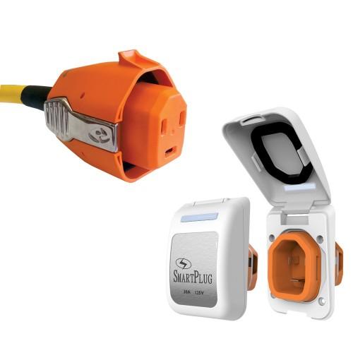 SmartPlug30 Amp Non Metallic White Inlet Plug Combo - Boat RV