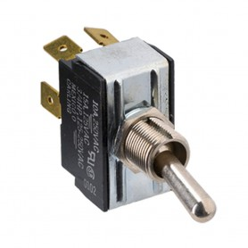 Paneltronics DPDT ON-OFF-ON Metal Bat Toggle Switch