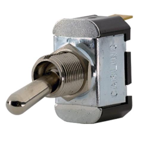 Paneltronics SPST ON--OFF- Metal Bat Toggle Switch - Momentary Configuration