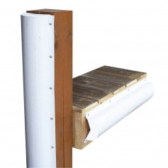 Dock Edge Piling Bumper - One End Capped - 6- - White