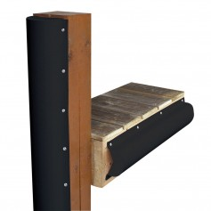 Dock Edge Piling Bumper - One End Capped - 6- - Black