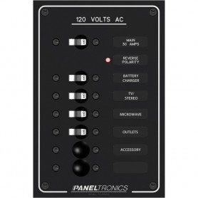 Paneltronics Standard AC 6 Position Breaker Panel - Main