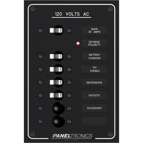 Paneltronics Standard AC 6 Position Breaker Panel - Main