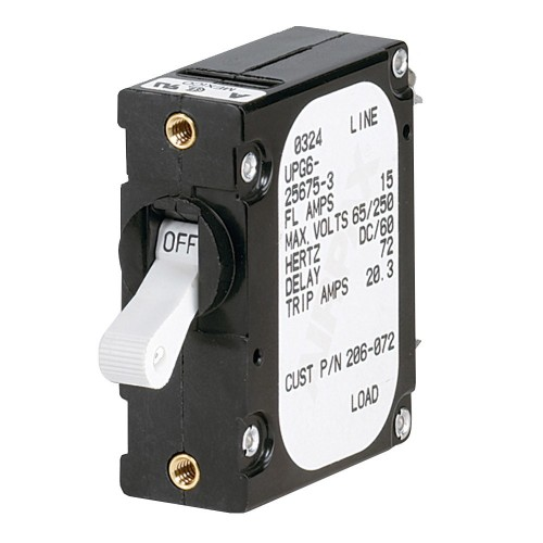 Paneltronics -A- Frame Magnetic Circuit Breaker - 15 Amps - Single Pole