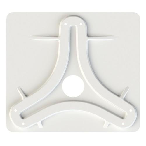 KING Jack-Omni Antenna Mounting Plate - White