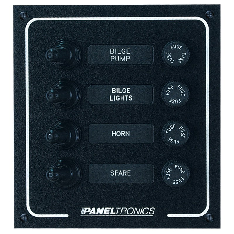 Paneltronics Waterproof DC 4 Position Booted Toggle - Fuse