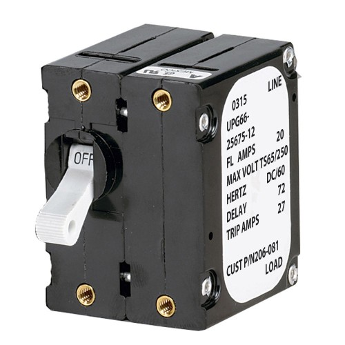 Paneltronics -A- Frame Magnetic Circuit Breaker - 15 Amps - Double Pole