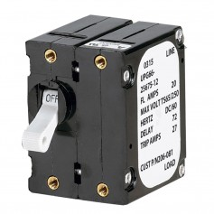 Paneltronics -A- Frame Magnetic Circuit Breaker - 25 Amps - Double Pole