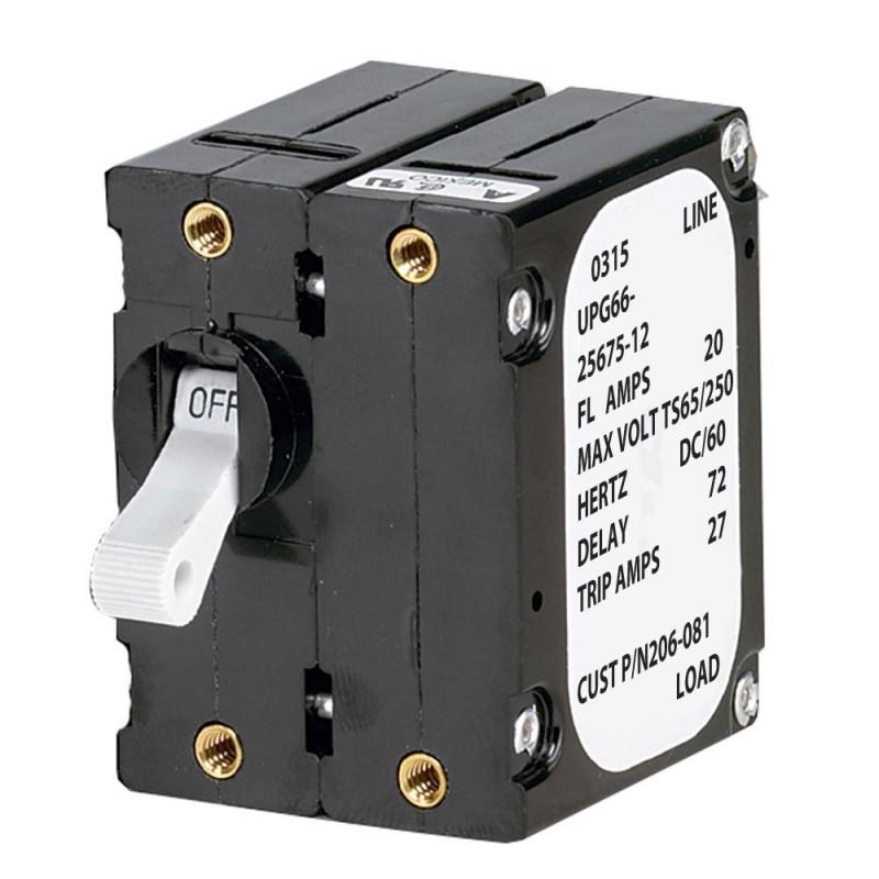 Paneltronics -A- Frame Magnetic Circuit Breaker - 25 Amps - Double Pole