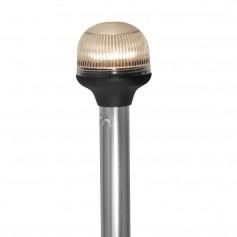 Attwood All-Around Fold-Down Incandescent Anti-Glare Lens Light - 20- Aluminum Pole - 12V - Vertical Composite Base