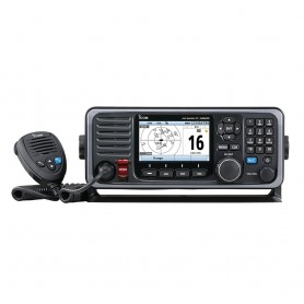 Icom M605 Fixed Mount 25W VHF w-Color Display - Rear Mic Connector