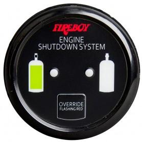 Xintex Deluxe Helm Display w-Gauge Body- LED - Color Graphics f-Engine Shutdown System - Black Bezel Display
