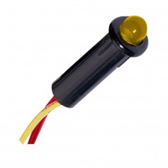 Paneltronics LED Indicator Light - Amber - 24 VDC - 1-4-