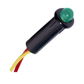 Paneltronics LED Indicator Light - Green - 24 VDC - 5-32-