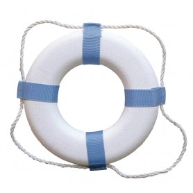 Taylor Made Decorative Ring Buoy - 17- - White-Blue - Not USCG Approved