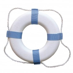 Taylor Made Decorative Ring Buoy - 20- - White-Blue - Not USCG Approved