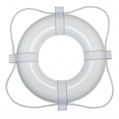Taylor Made Foam Ring Buoy - 20- - White w-White Rope