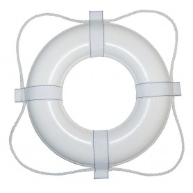 Taylor Made Foam Ring Buoy - 24- - White w-White Grab Line