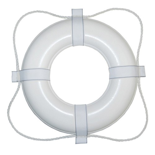 Taylor Made Foam Ring Buoy - 30- - White w-White Rope