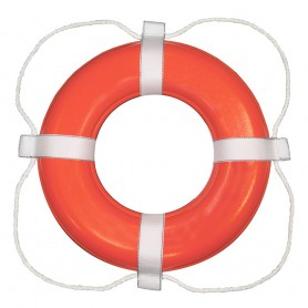 Taylor Made Foam Ring Buoy - 20- - Orange w-White Rope